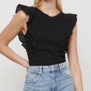 🖤Dynamite Julia Eyelet Top with Frill 🖤